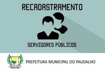 Prefeitura do Paudalho realiza o recadastramento dos Servidores Públicos