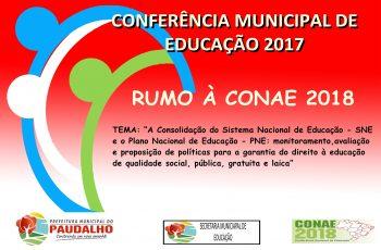 Conferência Municipal de Educação 2017 acontece na próxima sexta-feira