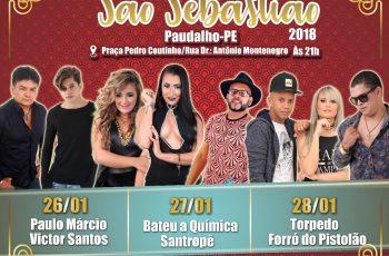 Confira a programação da Festa de São Sebastião 2018