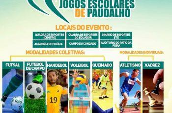 Jogos Escolares do Paudalho 2018 devem reunir cerca de 1.500 alunos do Município