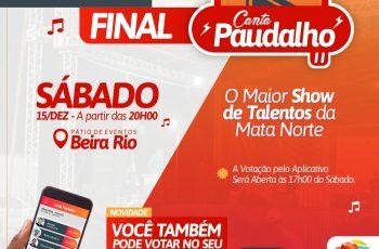 Grande final do Canta Paudalho ocorre neste sábado (15) e público poderá votar através de aplicativo
