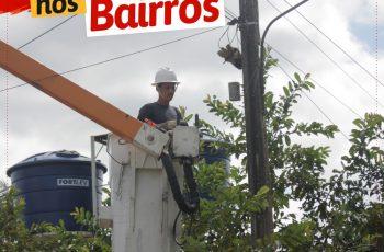 Projeto Prefeitura Nos Bairros leva serviços de Iluminação, limpeza urbana e recapeamento para comunidades do Município