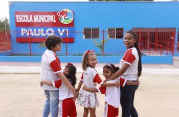 Secretaria de Educação entrega reconstrução da Escola Paulo VI em Chã do Pinheiro