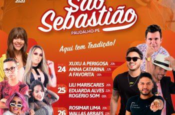 Prefeitura do Paudalho divulga programação da 151• Festa de São Sebastião
